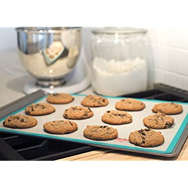 Silicone Baking Mat Combo Set (2 Pack) - One (1) Large Mat for Baking on Baking Pans & One (1) Extra Large Mat Specifically Sized for Cookie Sheets