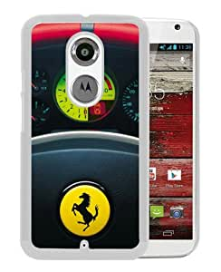 Beautiful Classic Ferrari logo(3) White Case For Moto X 2nd gen