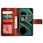 AD Enterprises Brown GP Flip Cover for Realme 8 5G