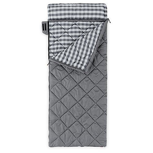 CORE 20 Deg Oversized Adult Sleeping Bag, Gray