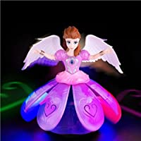 X Zini Plastic Dancing Angel Girl Robot with 3D Lights and Music for Kids