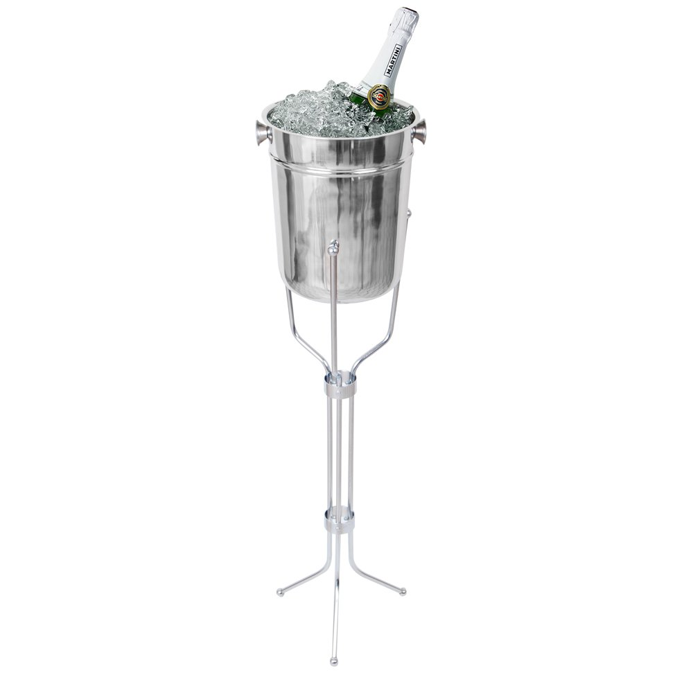 Kosma Stainless Steel Champagne Bucket with Stand | Beverage Bucket | Ice Bucket Montstar KG-21716