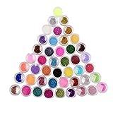 NYKKOLA 45 Colors Eyeshadow Makeup Nail Art Pigment Glitter Dust Powder Set