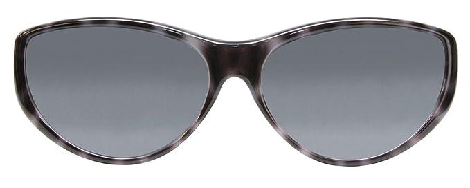 f5f647e288417 Amazon.com  Jonathan Paul Polarized Fitover Sunglasses in Black Cheetah  with Grey Lenses  Clothing