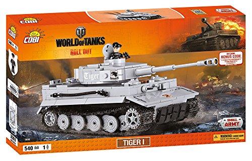 COBI 3000 World Tiger 1 Tank (540 Pcs) Wargaming Toy, Grey - Buy