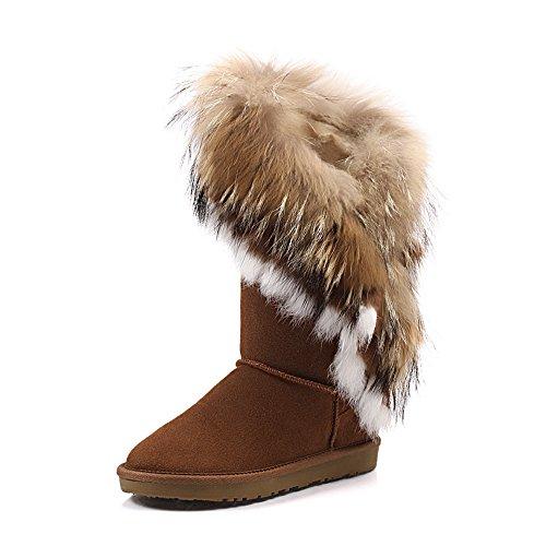 Nine Seven - Botas de nieve mujer marrón