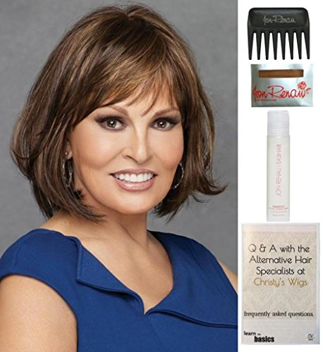 Bundle - 5 items: Classic Cut by Raquel Welch Wig, 15 Page Christy's Wigs Q & A Booklet, Wig Shampoo, Wig Cap & Wide Tooth Comb (Color Selected: RL1688) by Raquel Welch & Christy's Wigs