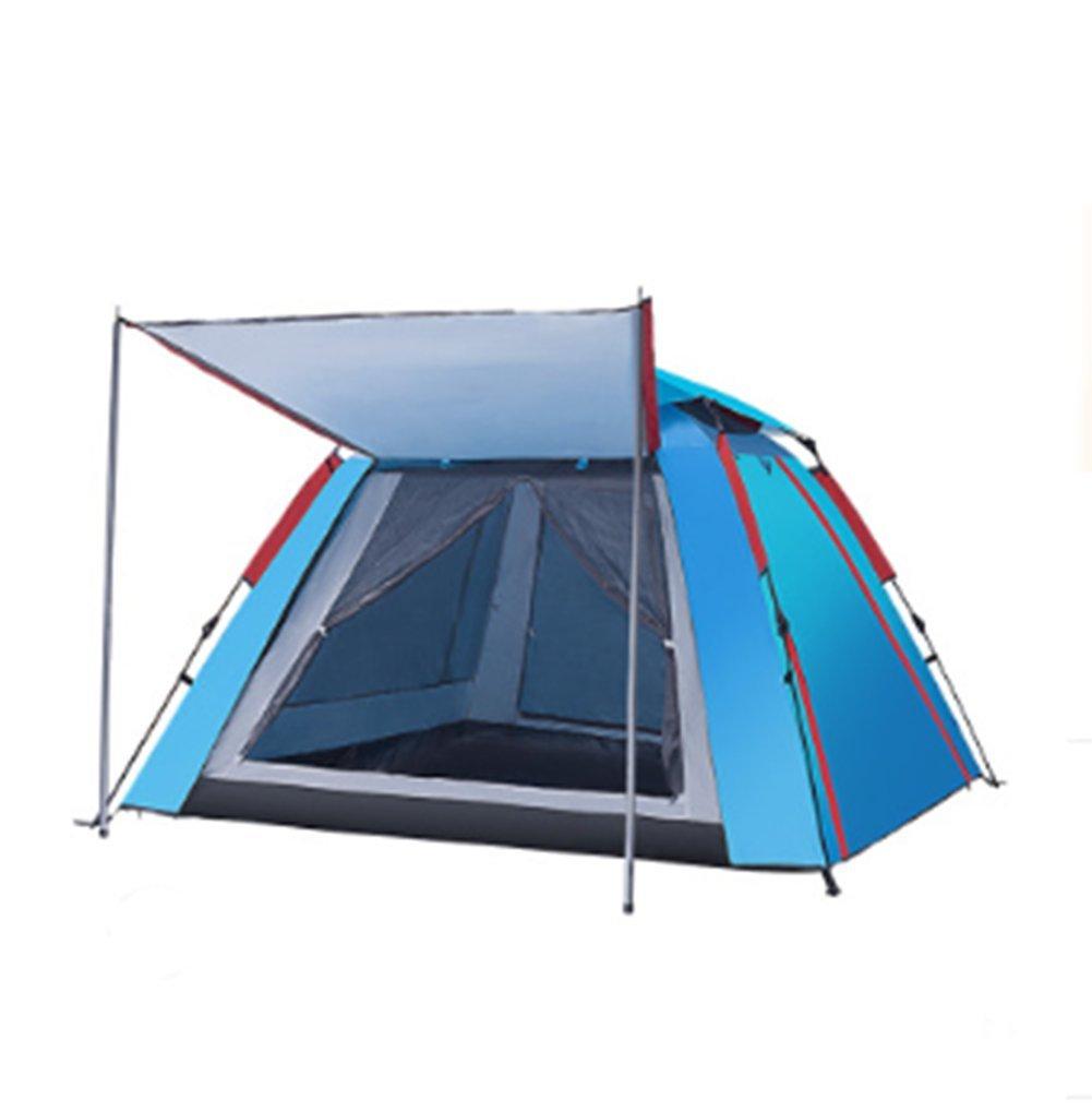 OOBY Camping Zelt 3-4 Person Automatische Instant Pop Up Wasserdichte Camping Wandern Zelte Für Familiengruppen,Blau