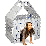 Fort Boards: Fort Building Kit   Jumbo Blocks - Kids Building Toys   90 Piece Set: Gray
