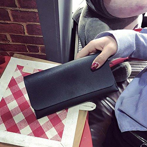 Sac Main Porte Petit 1 PU Frais 10 tempérament Embrayage Portefeuille Taille 20 Cuir Mode Noir Monnaie Noir Portefeuille Pochette Femme Générique à Femmes Long cm Couleur z7Xqw