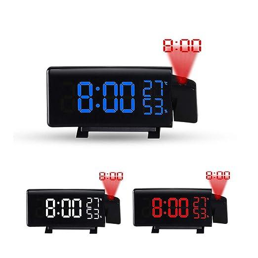 tib Reloj de Alarma de proyección Digital FM Radio Reloj ...