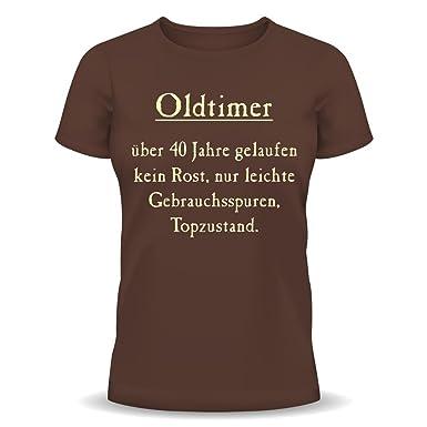 Lustige Sprüche Fun Tshirt Oldtimer Kein Rost Topzustand 40