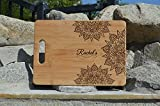Best Engraved Cases Gifts For Mothers - Mandala WOODEN Cutting Board Engraved Personalized Name BAMBOO Review