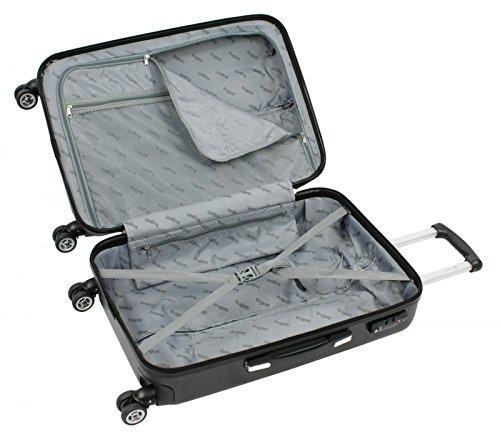 """Bugatti Case """"Cosmos"""" 66cm in black Laptop Rollkoffer, 60 cm, 64.3 liters, Schwarz (Black)"""
