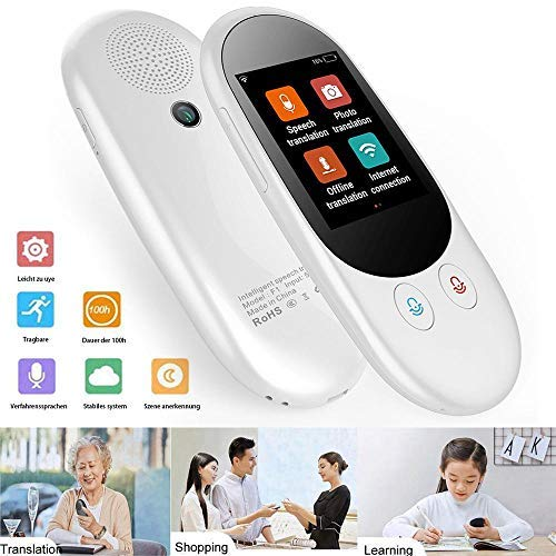 Lesgos Translator Device, Smart Voice Translator 126 Languages Real Time Instant Two-Way Translation Device Smart Handheld Instant Digital Voices Translator for Traveling Work Learning Business by lesgos