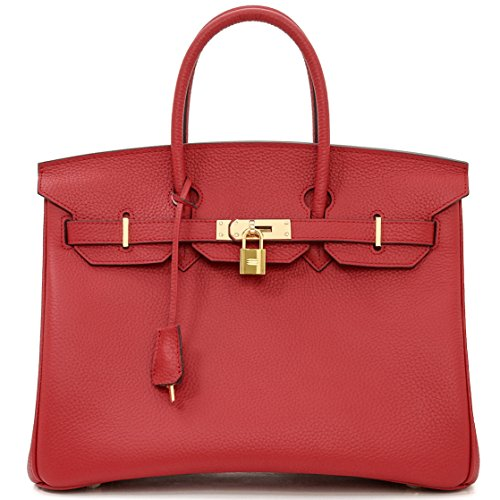 cm Brown main femme Red pour Stitch Macton à 35 White rouge Sac B8xwBpqz