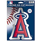 MLB Anaheim Angels Die Cut Logo Chrome Magnet, 6.25 x 9-Inch