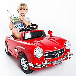 Red mercedes benz 300sl amg rc electric toy for Motorized mercedes benz toy car