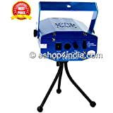 Live Cosmetics Multi Pattern Sound Activated Laser MIni Disco Light Projector Stage Lighting (Blue,12548545)