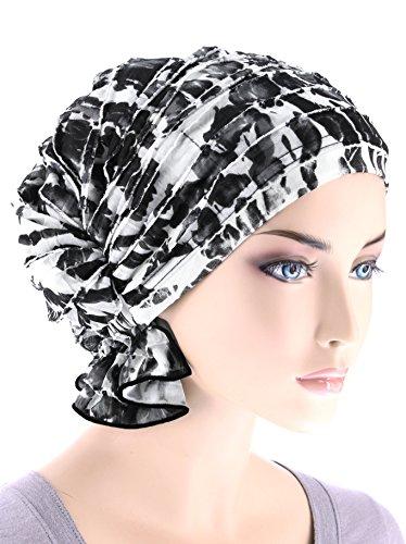 Turban Plus The Abbey Cap In Ruffle Fabric Chemo Caps