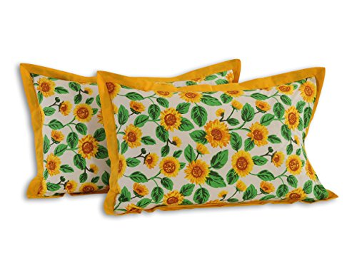 Luxurious Cotton Patterned Pillowcases - Set of 2 Pillow Cases - 20
