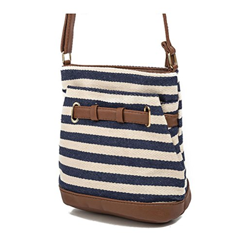 Prime Postman Mmessenger Handbags Canvas 2018 Shoulder Week New Fashion Package Zipper Tote Bag Women Navy Bags Women Bags Stripe Belts Day Deals FR7qgc6Fr
