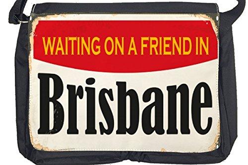 Borsa Tracolla Voglia Viaggiare Città Brisbane Australia Stampato