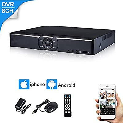 CANAVIS 8CH 5-in-1 1080N AHD Lite Security Standalone DVR H.264 HDMI Output, Quick QR Code Scan and Easy Remote View for Home Security Surveillance Camera System ¡
