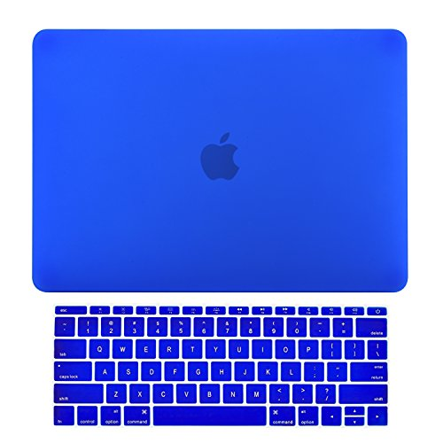 TOP CASE - MacBook Pro 13 Without Touch Bar (2017 & 2016 Release) 2 in 1 Bundle, Rubberized Hard Case Cover + Keyboard Cover for MacBook Pro 13-inch A1708 Without Touch Bar - Royal Blue