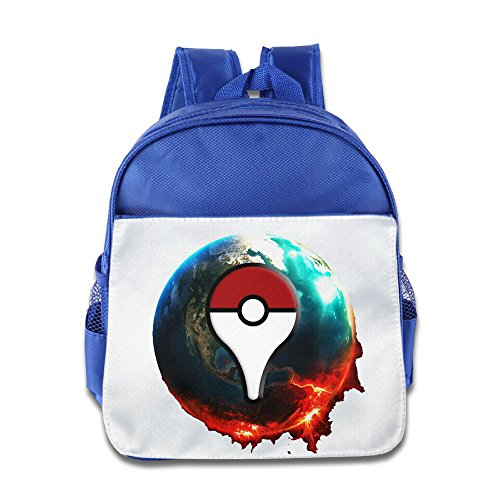 Logon 8 Cool Cartoon Earth Cool Backpacks RoyalBlue For 3-6 Years Olds Boys