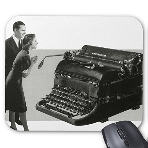 Zazzle Vintage Business, Antique Office Manual Typewriter Mouse Pad