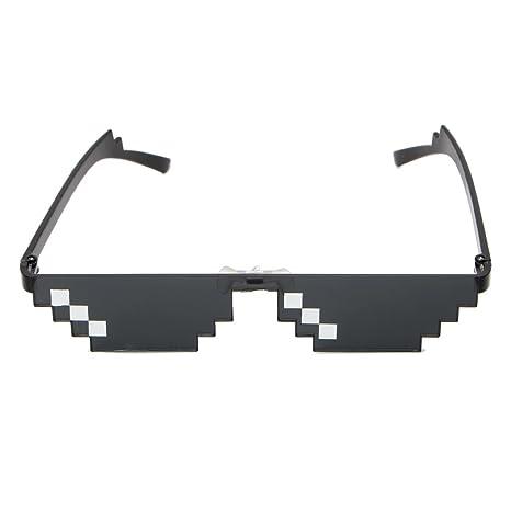 SimpleLife Gafas de Sol Pixelated Cool 3 bit MLG Las Gafas ...