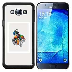 TECHCASE---Cubierta de la caja de protección para la piel dura ** Samsung Galaxy A8 ( A8000 ) ** --Bicicleta completa cargada