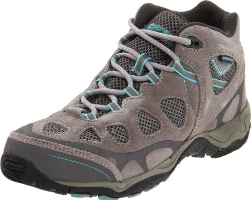 Hi-tec Womens Total Terrain Scarpa Da Trekking Medio Impermeabile Caldo Grigio / Acquatico