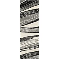 Safavieh Retro Collection RET2691-7912 Modern Abstract Light Grey and Ivory Runner (23 x 9)
