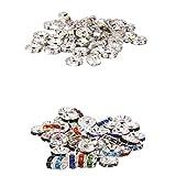 Baosity 100pcs Czech Faceted Rondelle Beads - Party Bracelets Jewelry Accessory