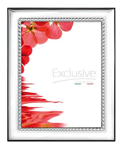 STERLING SILVER Picture Frame and Personal MIRROR. Wood Back. Made in ITALY (5 x ()