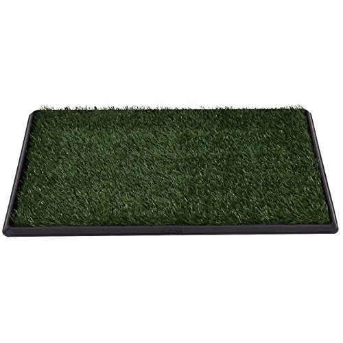 Green-Black Artificial grass(PE) ,PS, PP Pet Potty Dog Training Pad With Ebook