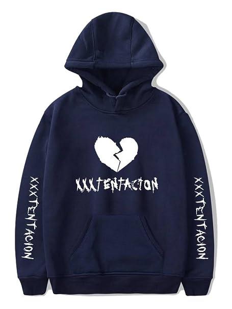 05bfb5a274553 ... Casual Hip Pop Rapper Xxxtentacion Prints Broken Heart 3D Digital  Impresión Mujeres Hombres Hoodie Sweatshirt Tops  Amazon.es  Ropa y  accesorios