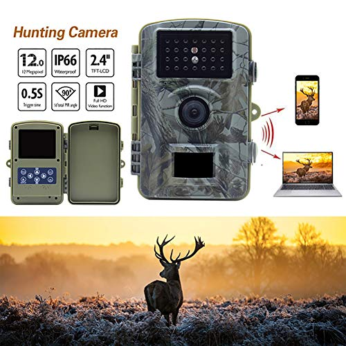 ALPEG Wildlife Deer Hunting Camera, HD Waterproof Trail Game Camera,with 2.4'' TFT-LCD Color Monitor,90° Detecting Range,for Nature Wild Scouting,850nm ()