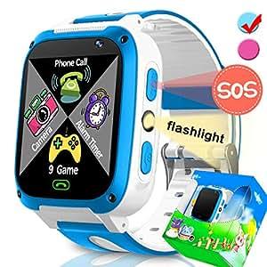 TURNMEON Juego Relojes Inteligentes para niñas Regalos de cumpleaños de Navidad con Ranura para Tarjetas SIM Llamadas Reloj Despertador para iOS Android Smartphone
