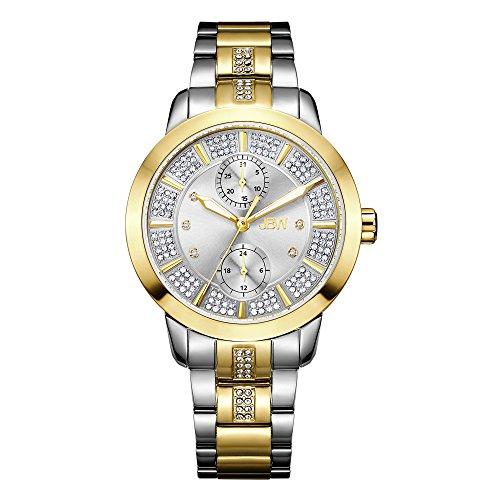 JBW Women's Lumen J6341B Gold Multi-Function Diamond Watch