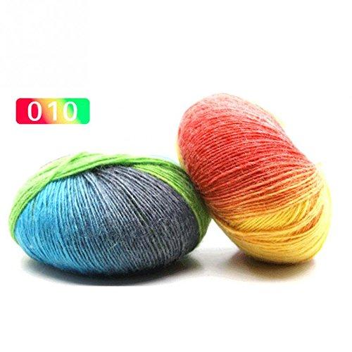 Micro Spun Yarn - Fashion Yarn - 1ball X50g Knitted Chunky Hand Woven Woolen Rainbow Wool Colorful Knitting Scores Yarn Needles - Bamboo Super Microfiber Spun Chunky Rainbow Swimsuit Wool Thread Knit Yarn F