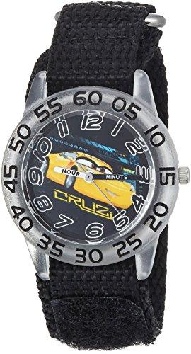 Disney Boy's 'Cars 3' Quartz Plastic and Nylon Casual Watch, Color:Black (Model: WDS000294)