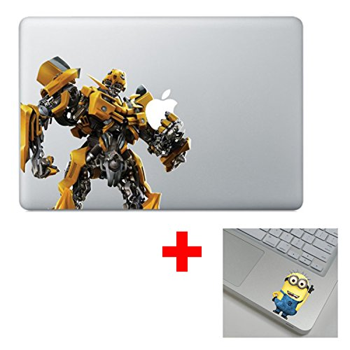 Bumblebee Transformer Super Hero Cartoon Character Decal Sticker for Macbook Laptop Air Pro Retina 13 15 17 Inch Cool