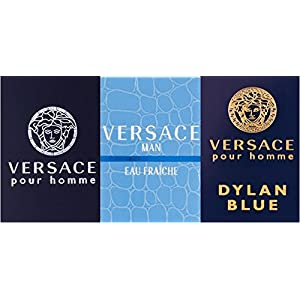 Versace 3-Piece Fragrance Variety Sample Pack for Men (5ml (3x5ml))