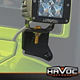 Havoc Offroad HPG-41-10209 Offroad Windshield Auxiliary Light Mount (2007-2017 Jeep Wrangler JK Black)