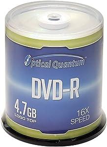 Optical Quantum DVD-R 4.7GB 16x Branded Recordable Media Disc - 100 Disc Spindle (FFP) OQDMR16LT-BX