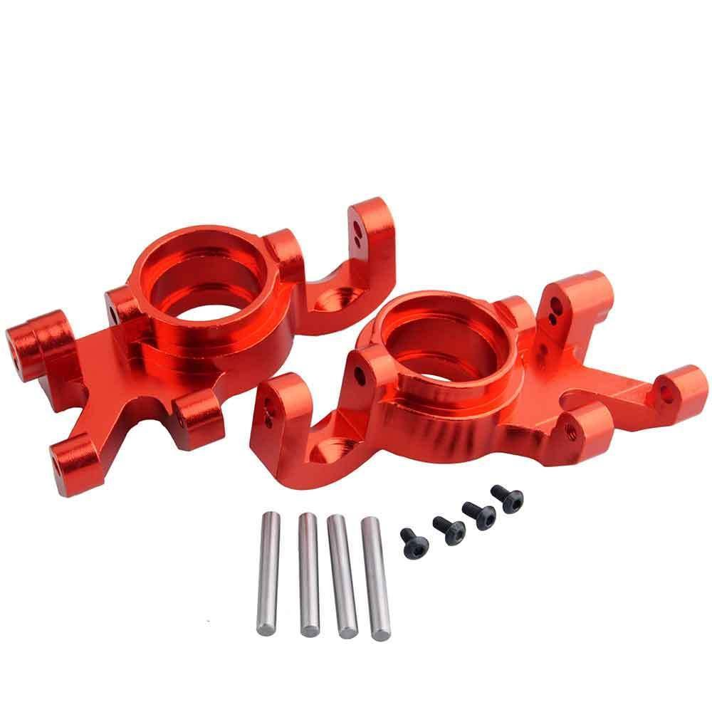 Toyoutdoorparts RC TRA 7737 Upgrade Red Alum Steering Blocks L/R for Traxxas X-MAXX Truck by Toyoutdoorparts (Image #4)