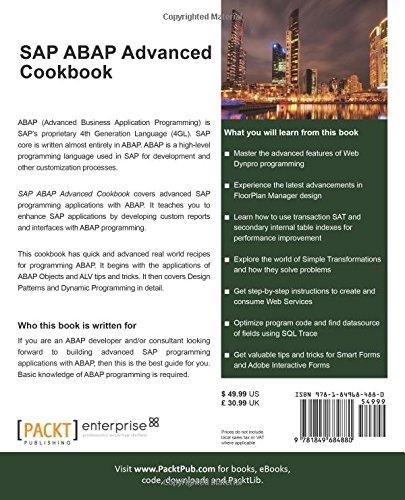 Amazon com: SAP ABAP Advanced cookbook (Quick Answers to